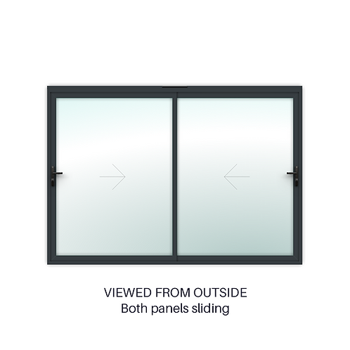 2 Panel Slimline Double Sliding Door