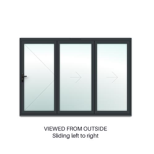 3 Panel Bifold Door Sliding Right