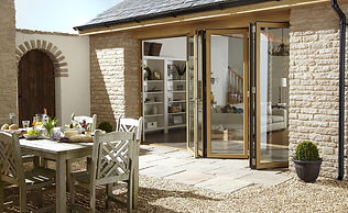 External view of opening bifold doors