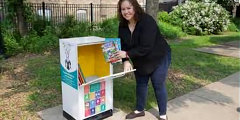"""Unity Park Little Library """"Book Drop Off Day"""""""