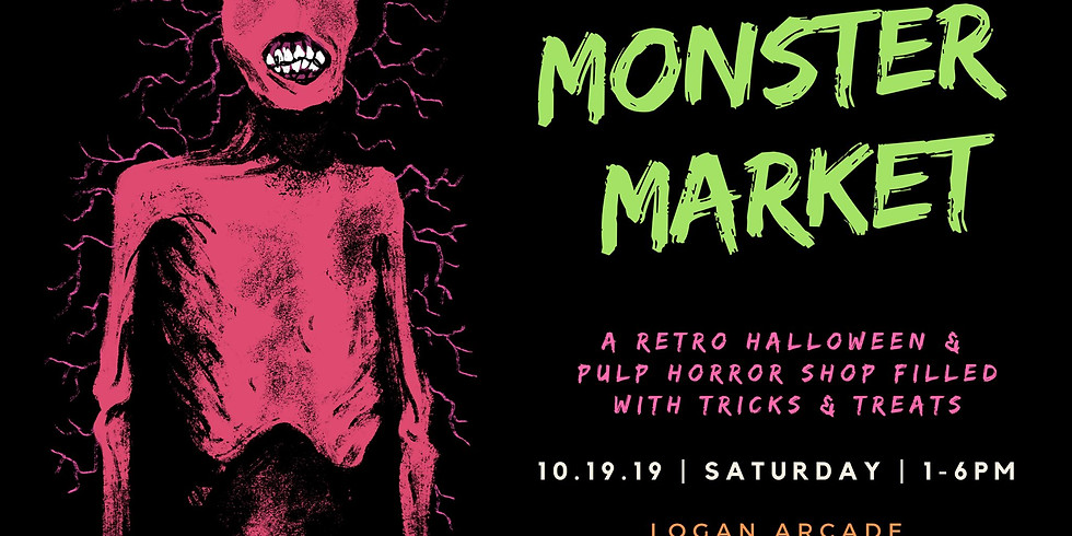 Monster Market at Logan Arcade to Benefit Harmony House For Cats