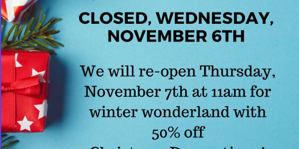Winter Wonderland at Monarch Thrift Shop