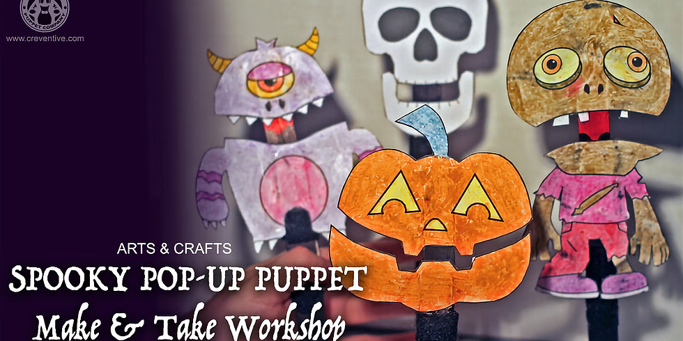 CANCELLED Spooky Pop-up Puppet Family Workshop at Holstein Park