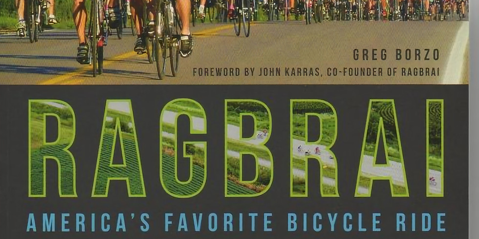 Monthly Meeting at Earth Rider-- Reminiscing or Planning for RAGBRAI by Greg Borzo
