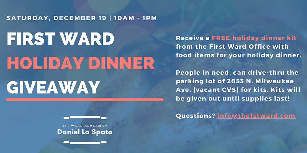 1st Ward Holiday Dinner Giveaway