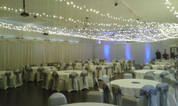 Ceiling Lights and Side Drapes