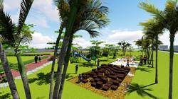 Plaza y parque infantil
