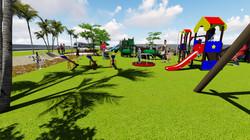Parque y plaza infantil