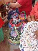 Finished baskets