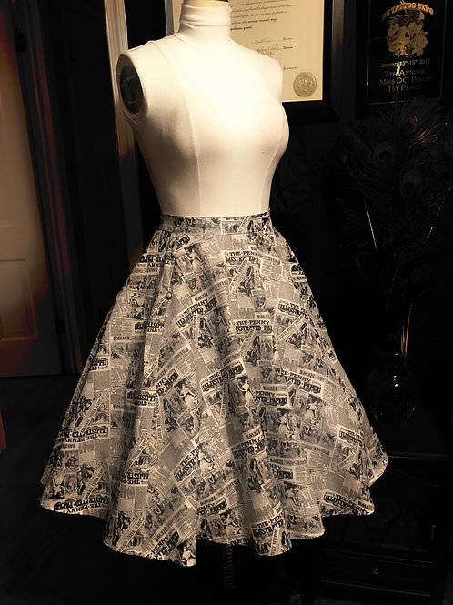 Penny Illustrated Skirt