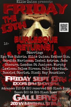 Friday the 13th Burlesque