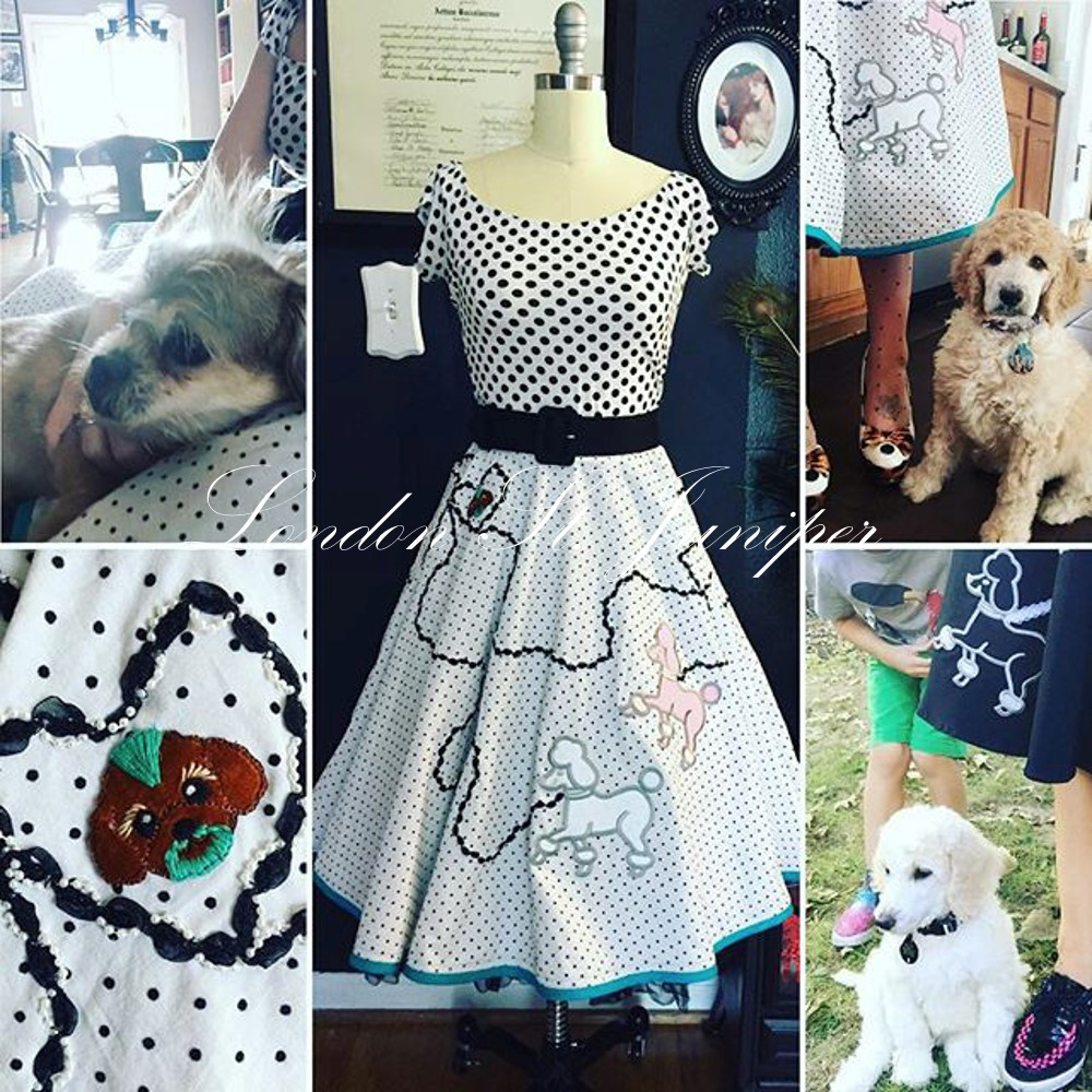 Personalized Poodle Skirt