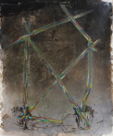home | Mischtechnik auf Papier / mixed media on paper | 150 x 120 cm | 2011