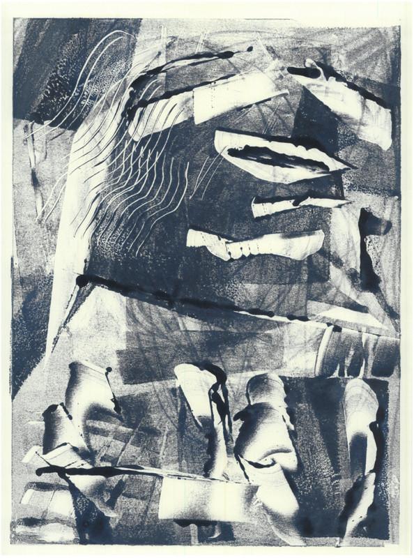 ohne Titel / untitled / Monotype on Paper / 40 x 30 cm / 2019