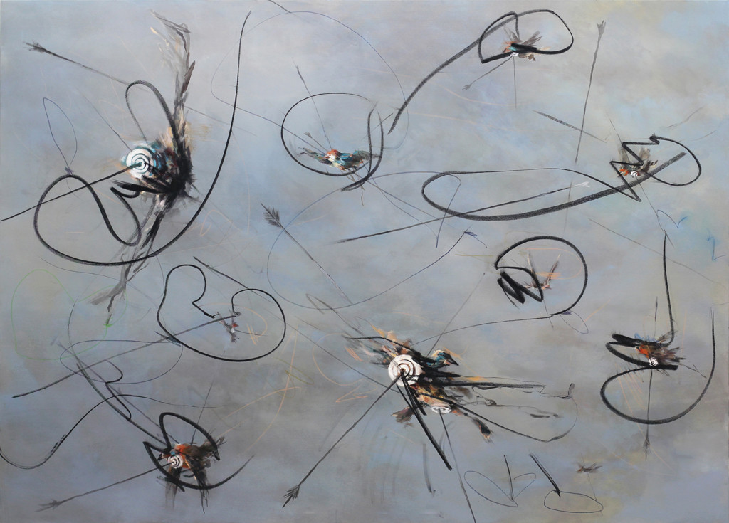 before we reach out for the stars | Mischtechnik auf Leinwand / mixed media on canvas | 180 x 250 cm | 2012
