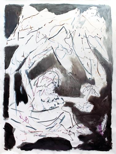 ohne Titel /untitled | Acryl auf Papier / acrylic on paper | 240 x 150 cm | 2014