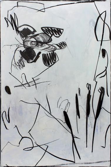 ohne Titel / untitled | Mischtechnik auf Leinwand / mixed media on canvas | 150 x 100 cm | 2017