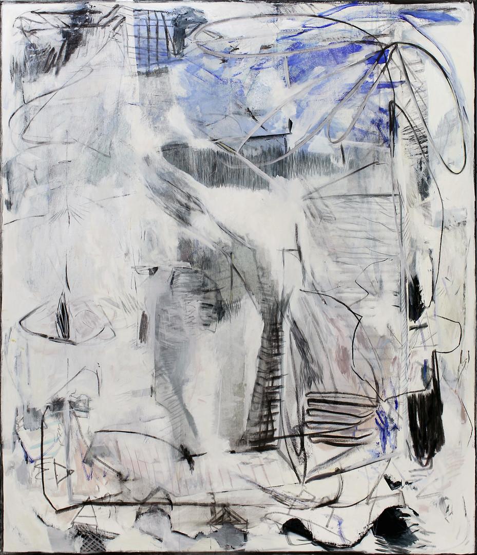 ohne Titel / untitled | Mischtechnik auf Leinwand / mixed media on canvas | 160 x 140cm | 2019