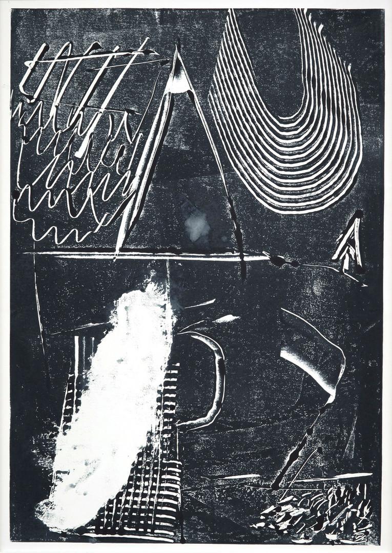 ohne Titel / untitled / Monotype on Paper / 70 x 50 cm / 2019
