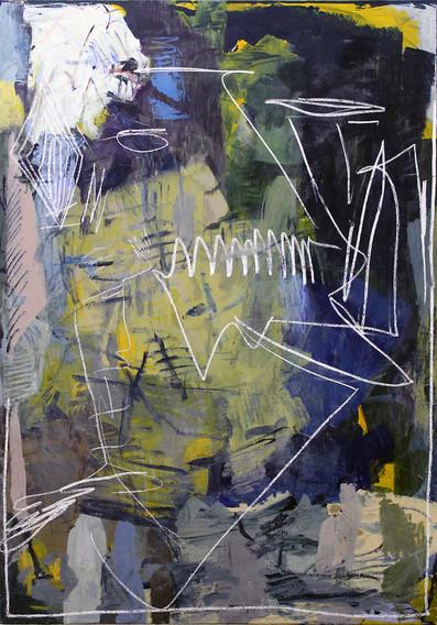 ohne Titel / untitled | Mischtechnik auf Leinwand / mixed media on canvas | 194,5 x 138,5 cm | 2018