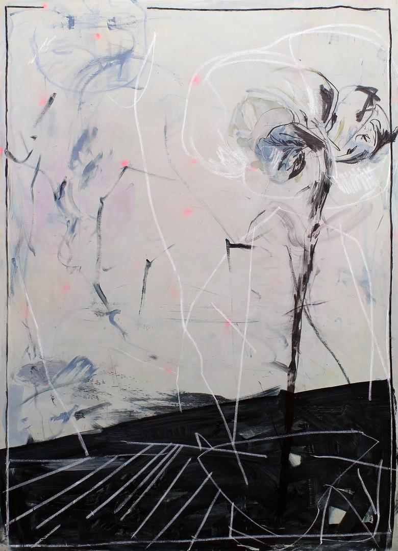 ohne Titel / untitled | Mischtechnik auf Leinwand / mixed media on canvas | 198 x 138 cm | 2015