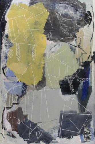 ohne Titel / untitled | Acryl und Kreide auf Leinwand / acrylics and chalk on canvas | 150 x 100cm | 2018