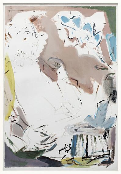 ohne Titel / untitled / Mischtechnik auf Papier / mixed media on paper | 100 x 70 cm | 2017