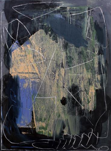 ohne Titel / untitled | Mischtechnik auf Leinwand / mixed media on canvas | 160 x 140cm | 2018