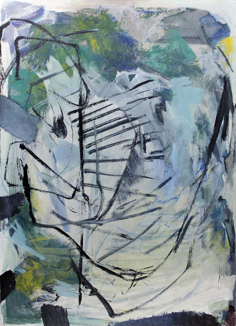 face | Mischtechnik auf Leinwand / mixed media on canvas | 194,5 x 138,5 cm | 2017