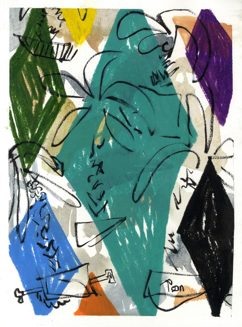 ohne Titel / untitled (Rom 2018) / Mischtechnik auf Papier   40 x 30 cm   2018