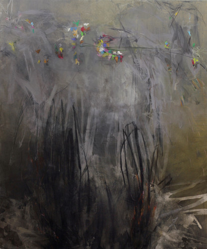 onesad minute | Mischtechnik auf Leinwand / mixed media on canvas  | 180 x 150 cm | 2011