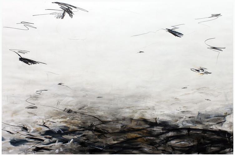 swarm | Mischtechnik auf Papier / mixed media on paper | 150 x 225 cm | 2010