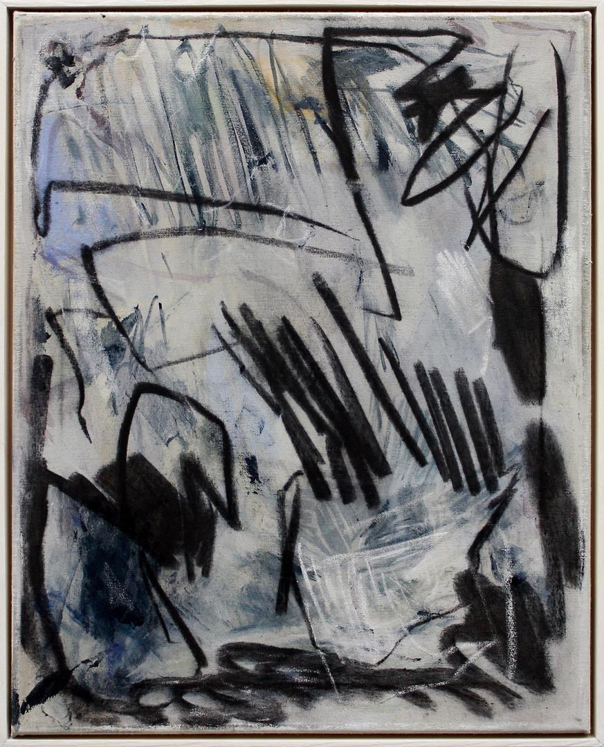 ohne Titel / untitled  | Mischtechnik auf Leinwand / mixed media on canvas | 50 x 40cm | 2017