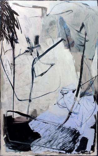 ohne Titel /untitled | Mischtechnik auf Leinwand / mixed media on canvas | 200 x 125 cm | 2017