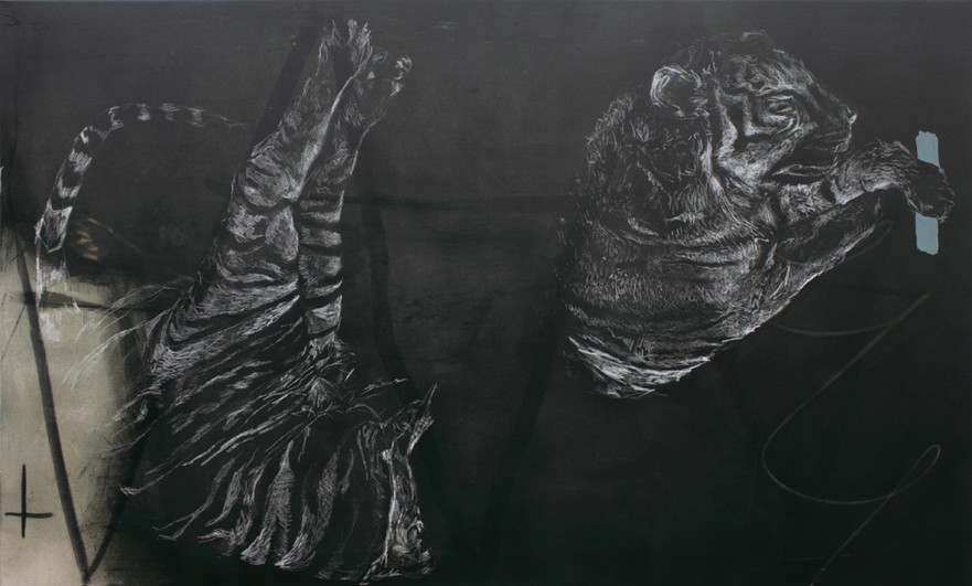 broken tiger | Mischtechnik auf Leinwand / mixed media on canvas  | 130 x 180 cm | 2011