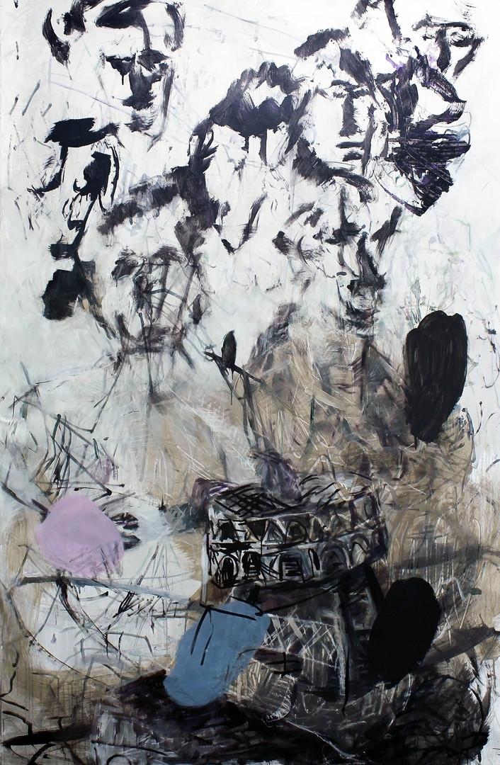 ohne Titel /untitled | Mischtechnik auf Leinwand / mixed media on canvas | 240 x 150 cm | 2014