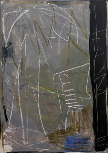ohne Titel / untitled | Mischtechnik auf Leinwand / mixed media on canvas | 70 x 50cm | 2018