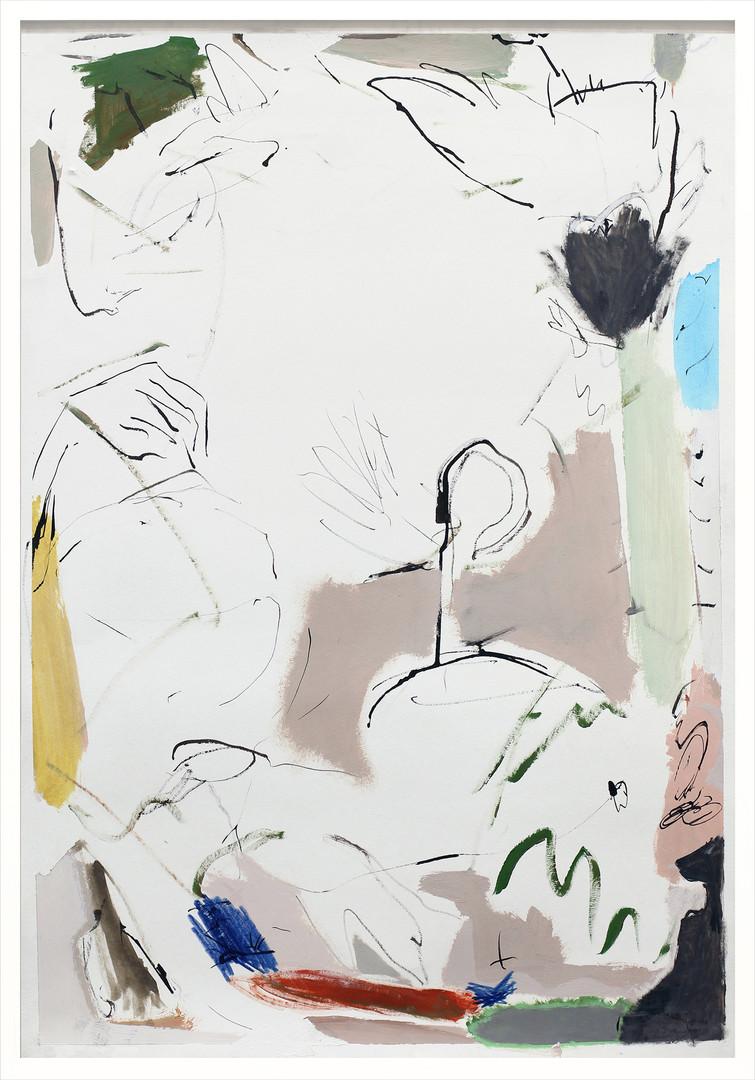 ohne Titel / untitled / Mischtechnik auf Papier / mixed media on paper   100 x 70 cm   2017