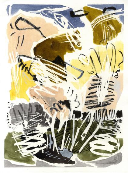 ohne Titel / untitled (Rom 2018) / Mischtechnik auf Papier | 40 x 30 cm | 2018