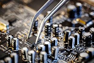 Macro placa base del ordenador