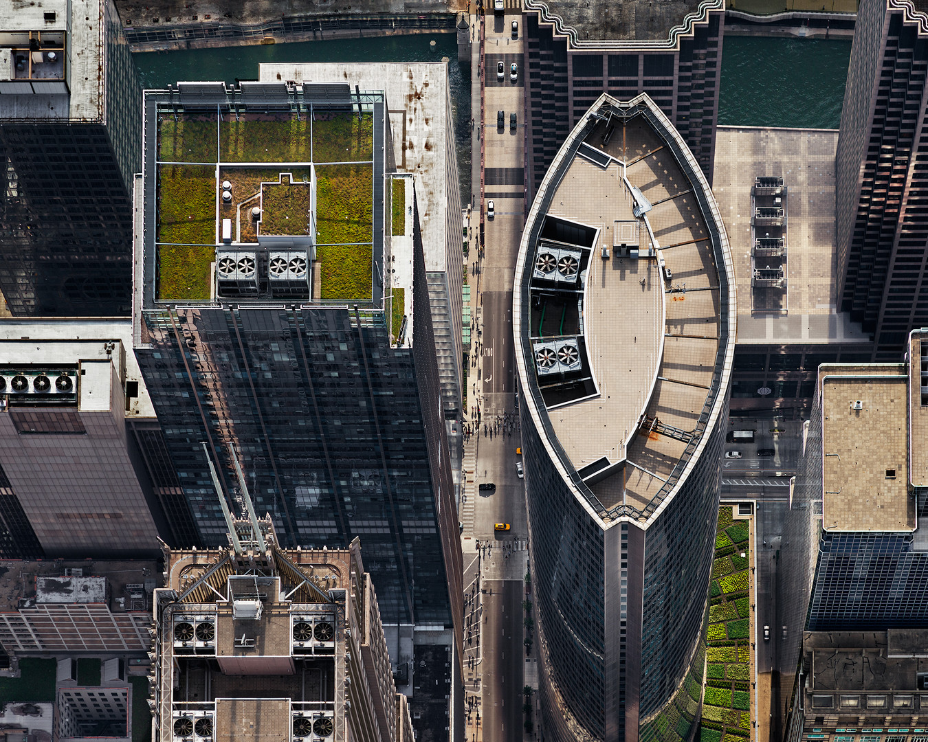 111 South Wacker (from above, looking We