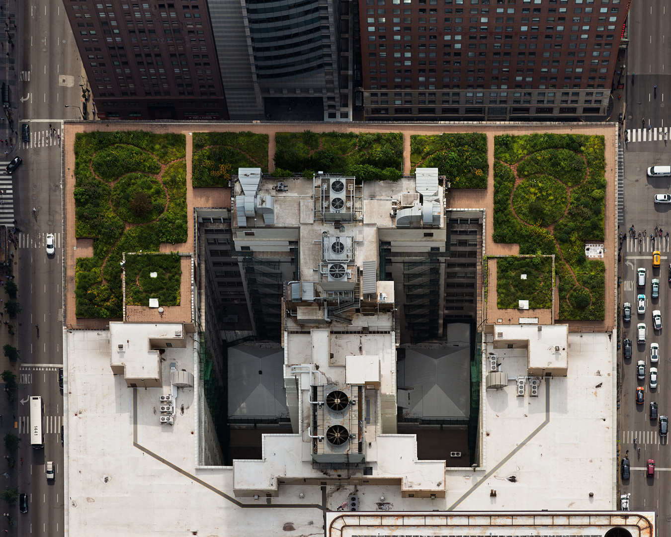 City Hall (from above, looking West) - C