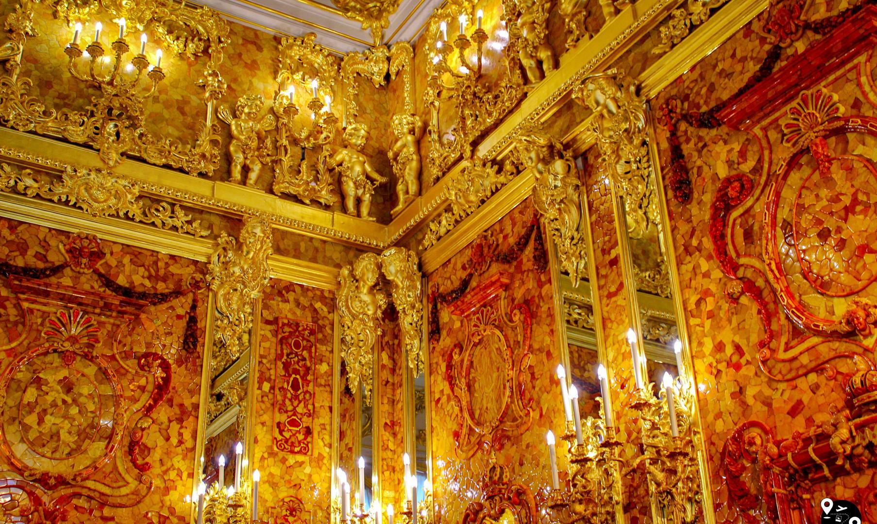 Янтарная комната в Екатерининском дворце, Царское Село