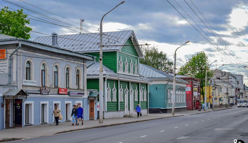 Старинные дома на Советской улице, Кострома
