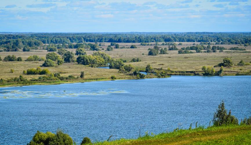 Пейзажи реки Оки в Константиново