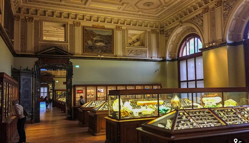 Зал минералов в Музее естествознания, Вена