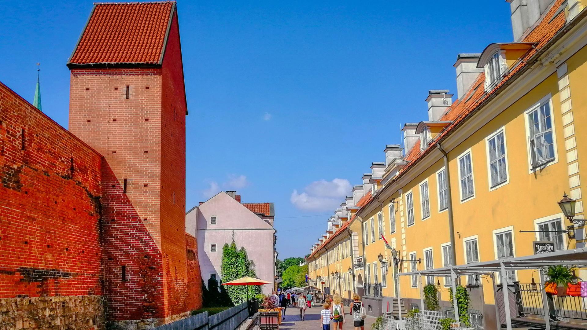 Стена Рижской крепости, Рига