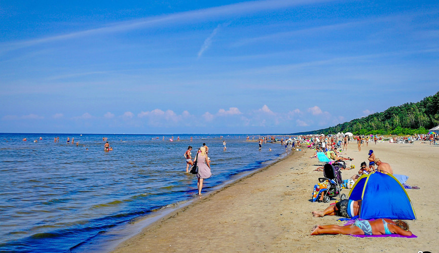 Побережье Балтийского моря в Юрмале