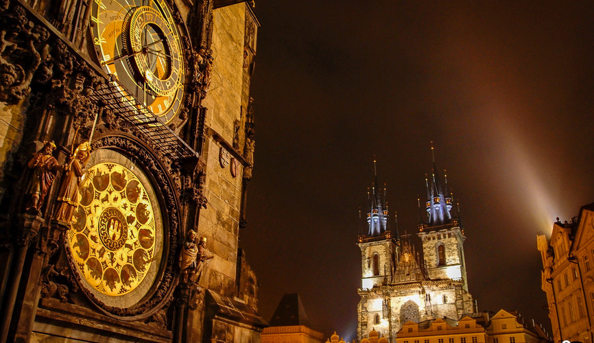 Пражские куранты, Прага