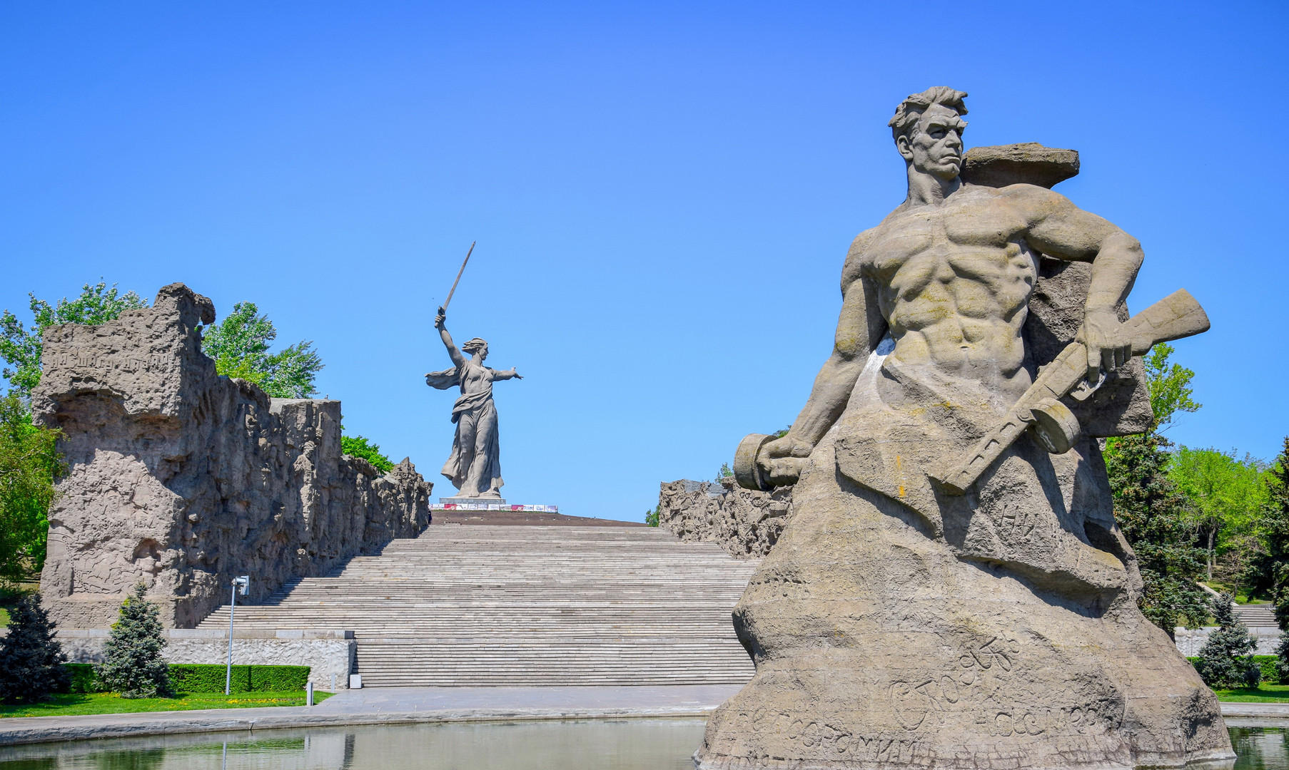 """Скульптура """"Стоять насмерть"""" на Мамаевом Кургане, Волгоград"""